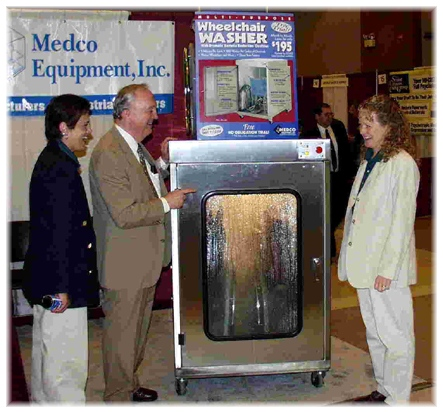 Wheelchair washers, dog washers and shopping cart washers will be on display by Medco Equipment (TM), Inc. at selected trade shows.